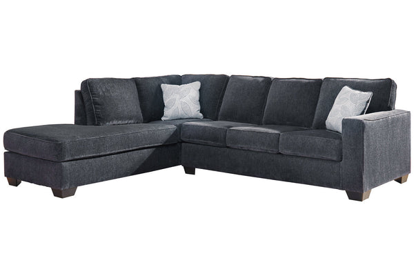 87213 Altari Slate 2-Piece LAF Sleeper Chaise Sectional