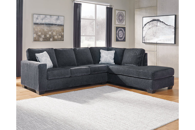 87213 Altari Slate 2-Piece Sectional with Chaise | 87213S2 | by Ashley | Nova Furniture