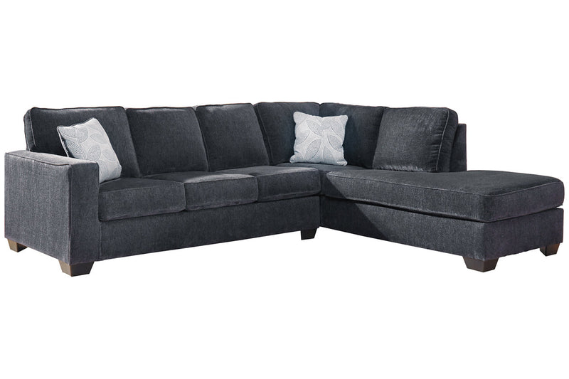 87213 Altari Slate 2-Piece RAF Chaise Sectional