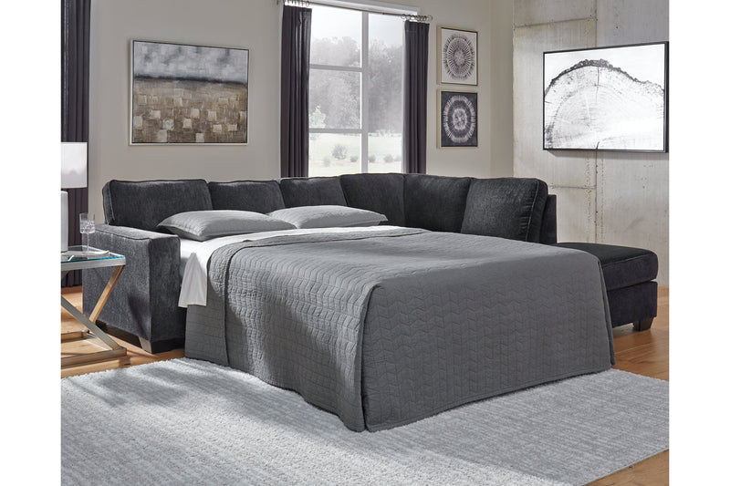 87213 Altari Slate 2-Piece RAF Sleeper Chaise Sectional