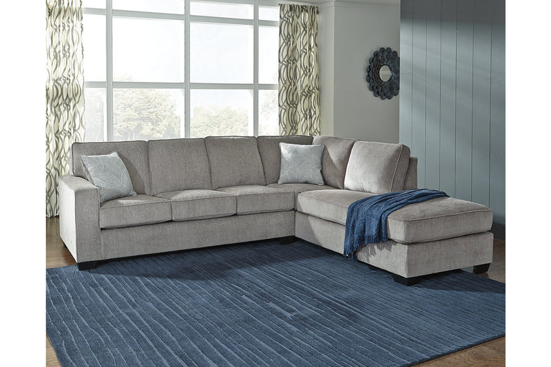 87214 Altari Alloy 2-Piece Sectional with Chaise | 87214S2 | by Ashley | Nova Furniture
