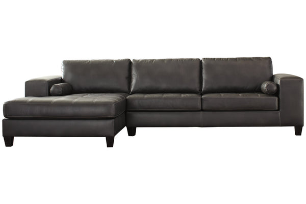 87701 Nokomis Charcoal 2-Piece LAF Chaise Sectional