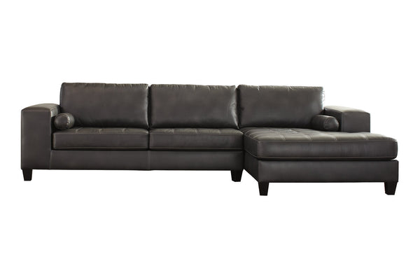 87701 Nokomis Charcoal 2-Piece RAF Chaise Sectional
