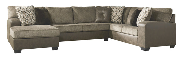 91302 Abalone Chocolate 3-Piece LAF Chaise Sectional