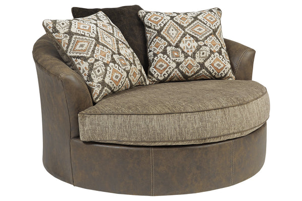 91302 Abalone Chocolate Oversized Chair