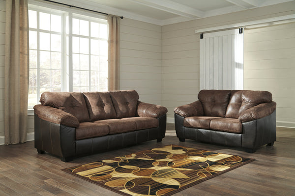 91603 Gregale Coffee Sofa & Loveseat