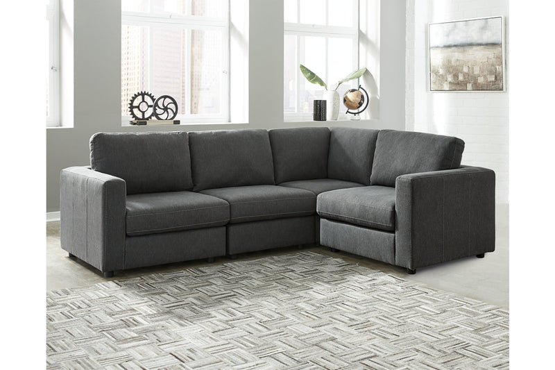 91902 Candela Charcoal 4-Piece Sectional | 91902S3 | by Ashley | Nova Furniture