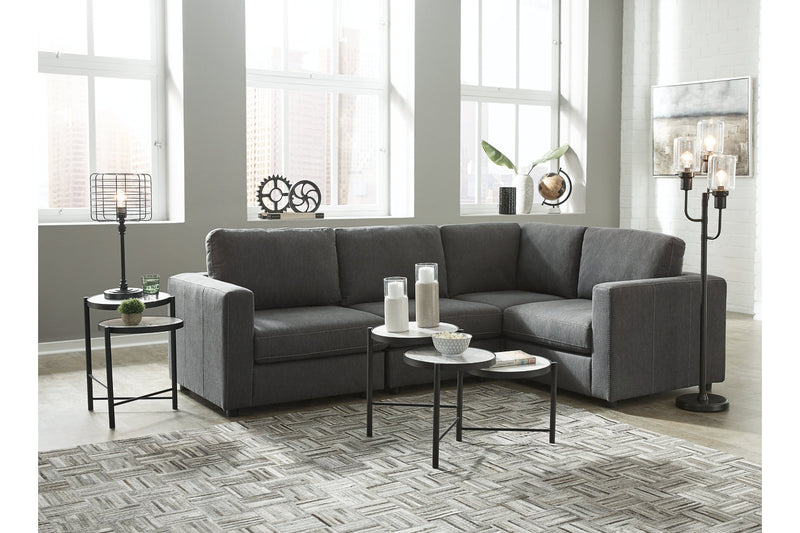 91902 Candela Charcoal 4-Piece Sectional