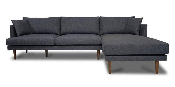 Nancy Dark Gray Fabric RAF Sectional - Luna Furniture