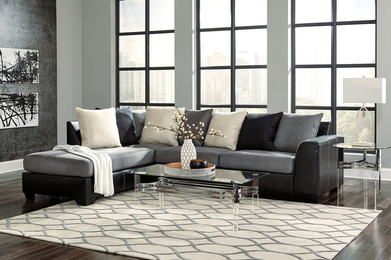 99804 Jacurso Charcoal 2-Piece LAF Chaise Sectional