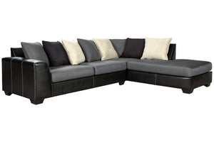 99804 Jacurso Charcoal 2-Piece RAF Chaise Sectional