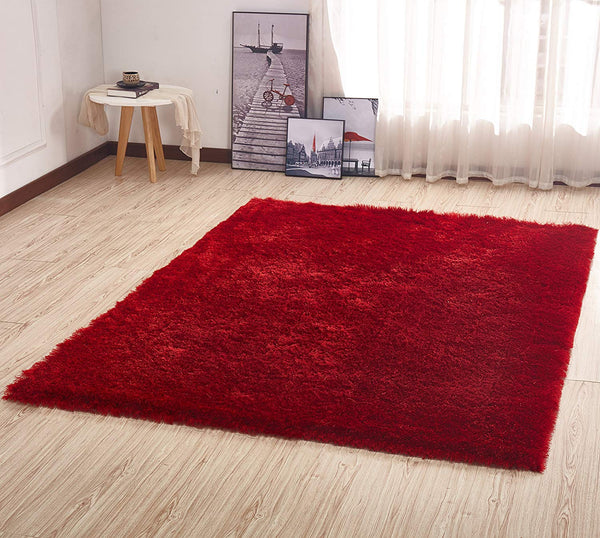 CSR1000-5X7 - Crown Shag 3D Solid Red Area Rug