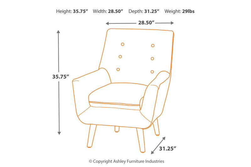 A3000045 Zossen Ivory Accent Chair | A3000045 | by Ashley | Nova Furniture