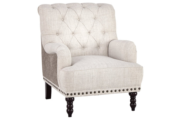 A3000053 Tartonelle Ivory/Taupe Accent Chair