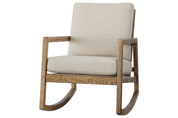A3000081 Novelda Neutral Rocker Accent Chair