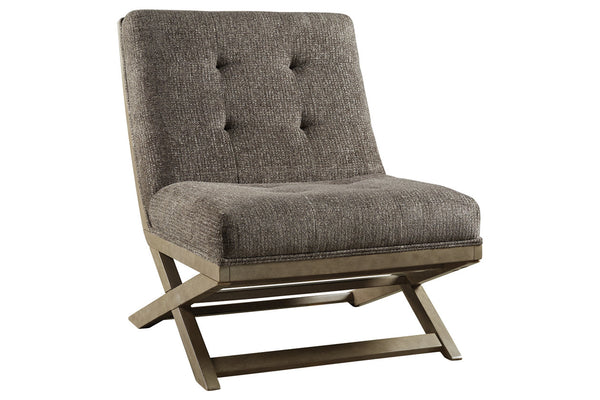 A3000135 Sidewinder Taupe Accent Chair
