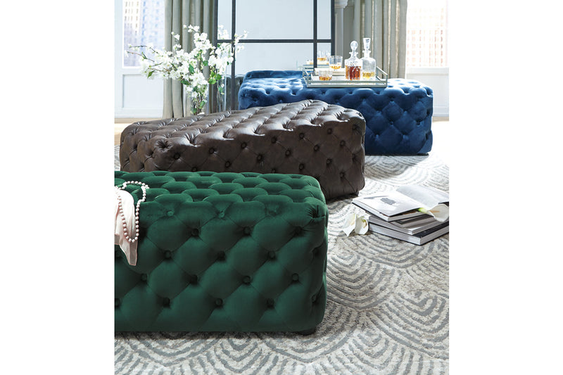 A3000169 Lister Navy Accent Ottoman | A3000169 | by Ashley | Nova Furniture