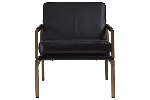 A3000192 Puckman Black Accent Chair