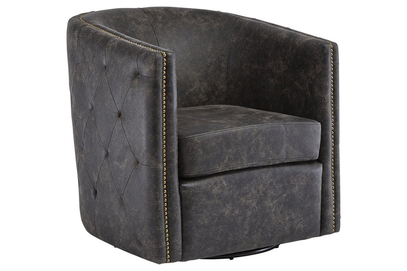 A3000202 Brentlow Distressed Black Accent Chair