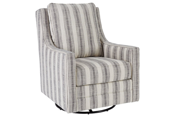 A3000207 Kambria Ivory/Black Accent Chair