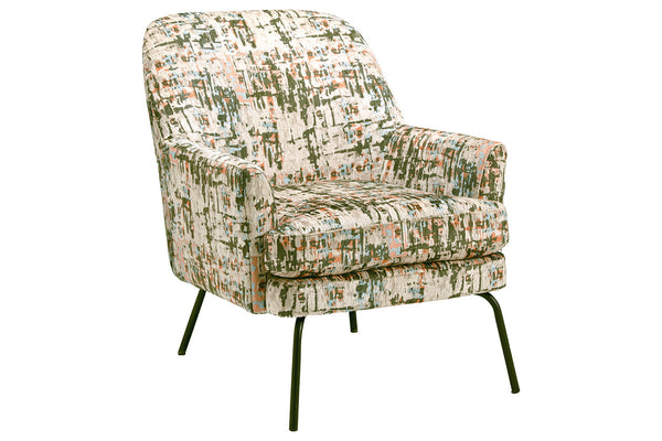A3000234 Dericka Beige/Green Accent Chair