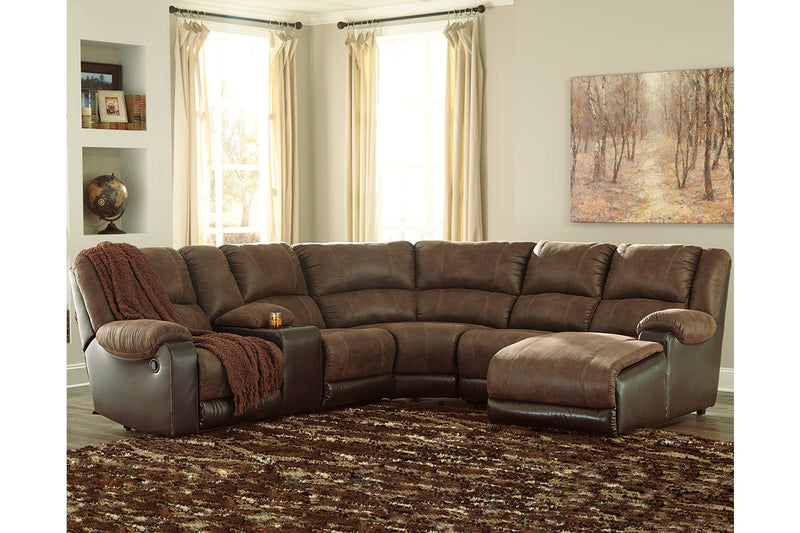 50302 Nantahala Coffee 6-Piece Reclining RAF Chaise Sectional