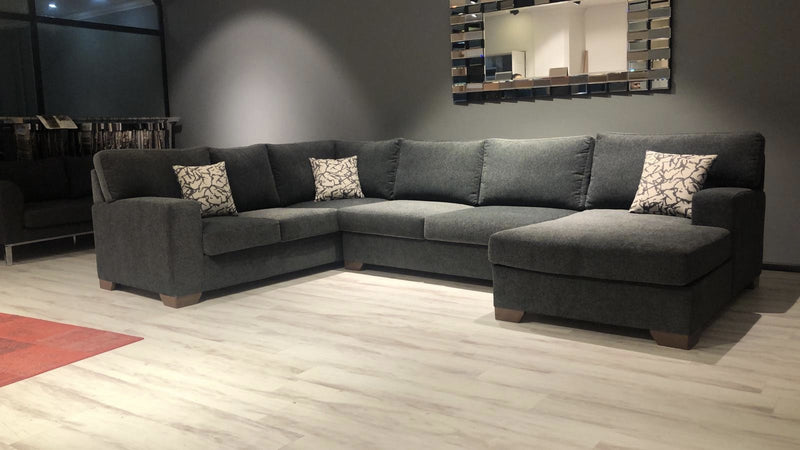 Herman Smoke RAF Sectional - Luna Furniture