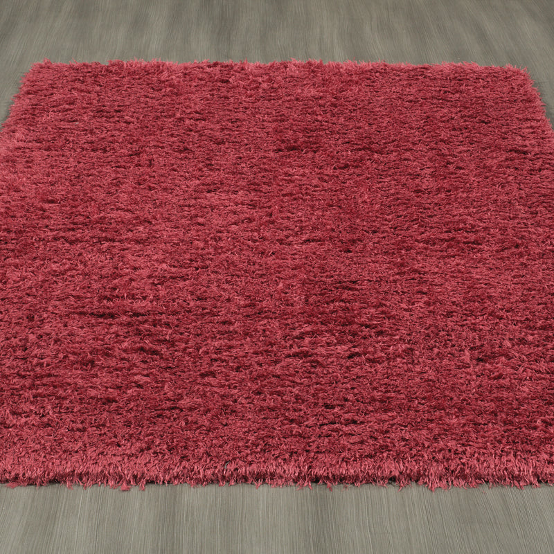 FFR1000-5X7 - Flokati Sheepskin Solid Red Area Rug