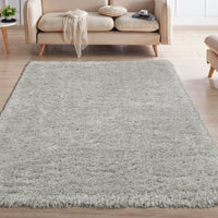 FFR1003-5X7 - Flokati Sheepskin Solid Gray Area Rug