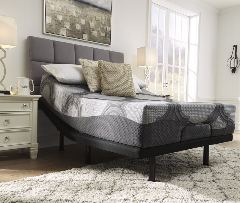 "Ashley 12"" Hybrid Gray Firm Queen Mattress - Luna Furniture"