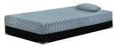 "iKidz 7"" Blue Memory Foam Firm Twin Mattress and Pillow - Luna Furniture"