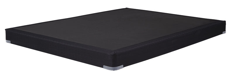 "Black Queen 4"" Low Profile Box Spring - Luna Furniture"