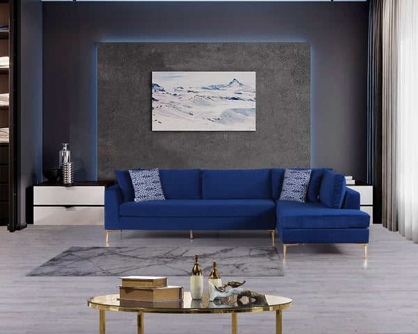 Naomi Blue Velvet RAF Sectional  [ETA: 6/10]