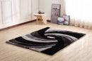 CSR2032-5X7 - Crown Shag 3D Gray/Black/White Area Rug