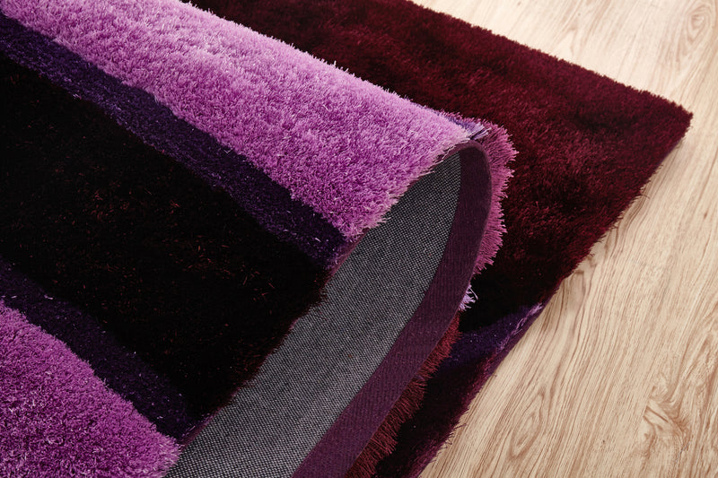 CSR2044-5X7 - Crown Shag 3D Purple/Pink Area Rug