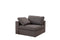 Arny Smoke Large Modern Reversible Sectional - Luna Furniture