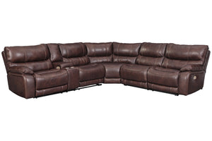 U43401 Muirfield Mahogany 3-Piece Power Reclining Sectional