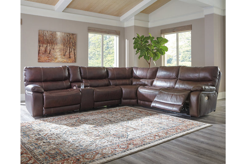 U43401 Muirfield Mahogany 3-Piece Power Reclining Sectional | U43401S4 | by Ashley | Nova Furniture