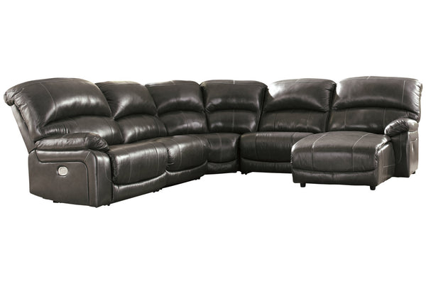 U52403 Hallstrung Gray 5-Piece Power Reclining Sectional with Chaise