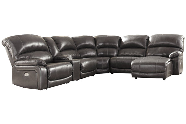 U52403 Hallstrung Gray 6-Piece Power Reclining Sectional with Chaise