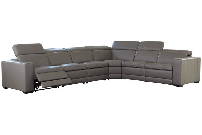 U59603 Texline Gray 6-Piece Power Reclining Sectional