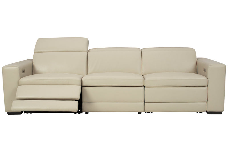 U59604 Texline Sand 4-Piece Power Reclining Sofa