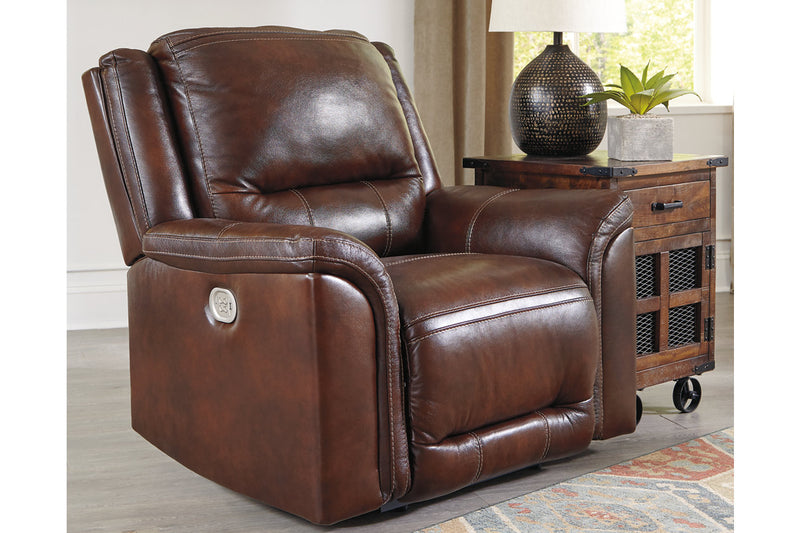 U83004 Catanzaro Mahogany Power Recliner | U8300413 | by Ashley | Nova Furniture