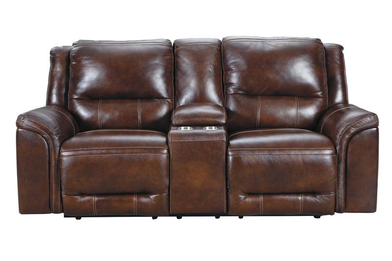 U83004 Catanzaro Mahogany Power Reclining Sofa & Loveseat