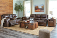 U84604 Buncrana Chocolate Power Reclining Sofa & Loveseat