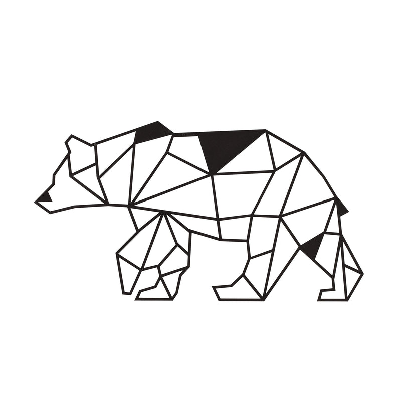 W02 - Bear Metal Wall Decor
