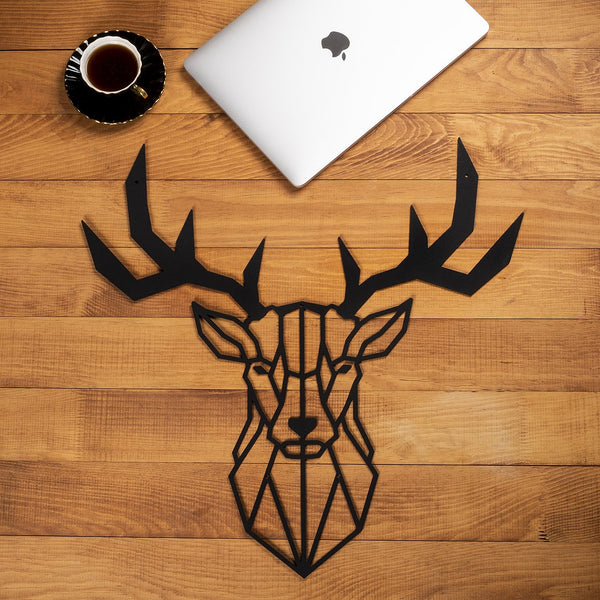 W09 - Deer Head Metal Wall Decor