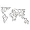 W10 - World Map Metal Wall Decor
