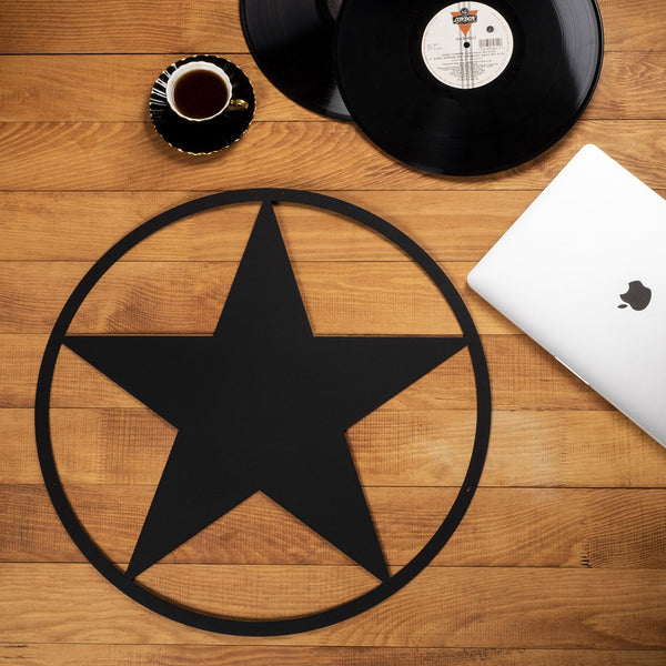 W264 - Texas Star Metal Wall Decor