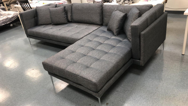 Naila Dark Gray RAF Sectional - Luna Furniture